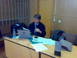 Выступление в Мещанском суде.